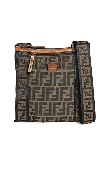 What Goes Around Comes Around Fendi Brown Zucca Messenger Bag