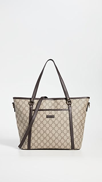 What Goes Around Comes Around Gucci Brown Tote Bag
