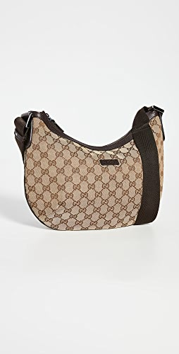 What Goes Around Comes Around - Gucci Brown Round Messenger Bag