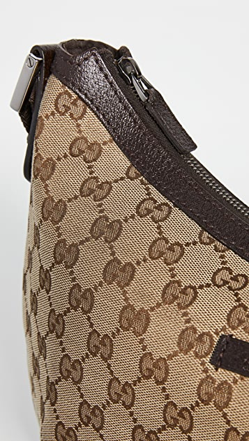 What Goes Around Comes Around Gucci 棕色圆形信使包