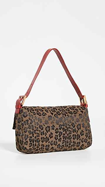 What Goes Around Comes Around Fendi Red Leopard Baguette