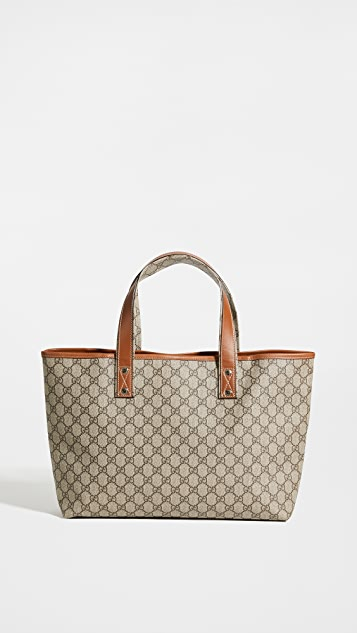 What Goes Around Comes Around Gucci Canvas Webloop Tote