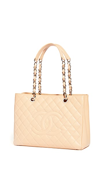 What Goes Around Comes Around Chanel Beige Caviar Tote