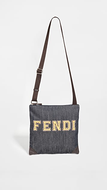 What Goes Around Comes Around Fendi Blue Denim Messenger