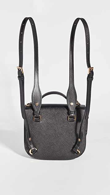 What Goes Around Comes Around Prada Black Saffiano Odette Backpack