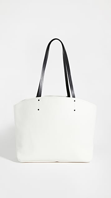 What Goes Around Comes Around Prada White Canvas Canapa Large Tote