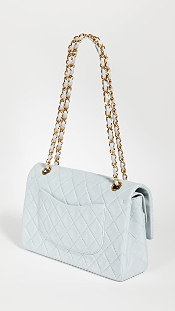 What Goes Around Comes Around Chanel Blue Lambskin Bag