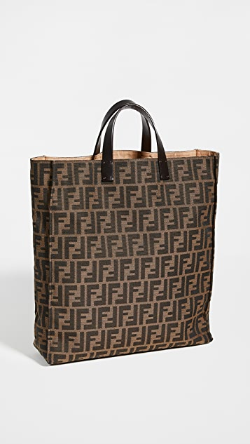 What Goes Around Comes Around Fendi Brown Zucca Tote