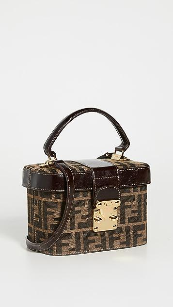 What Goes Around Comes Around Fendi Brown Zucca Vanity Bag