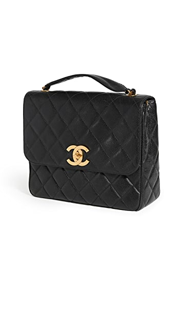 What Goes Around Comes Around Chanel Bigccsquare 黑色鱼子纹大号包