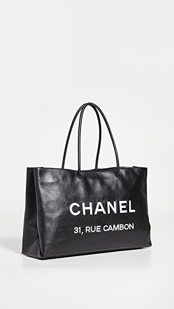 What Goes Around Comes Around Chanel 黑色小牛皮基本款托特包