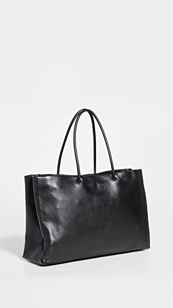 What Goes Around Comes Around Chanel Black Calf Essential Tote Bag