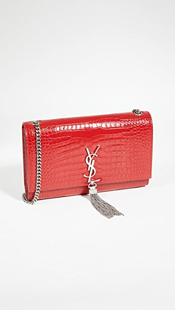 What Goes Around Comes Around YSL 红色压花 Kate 中号包