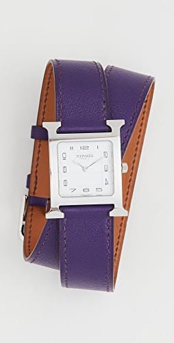 What Goes Around Comes Around - 25mm Hermes Purple Silver Double Watch