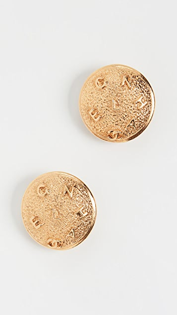 What Goes Around Comes Around Chanel Gold Button Earrings