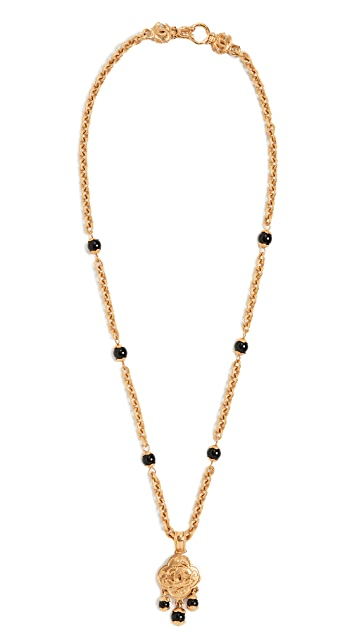 What Goes Around Comes Around Chanel Gold CC Necklace