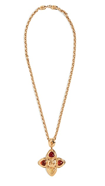What Goes Around Comes Around Chanel Gold Gripoix Necklace Large