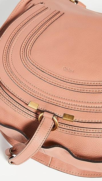 What Goes Around Comes Around Chloe Medium Marcie Hobo Bag Brown Leather