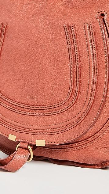 What Goes Around Comes Around Chloe Brown Leather Marcie Medium Hobo Bag