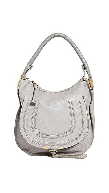 What Goes Around Comes Around Chloe Medium Marcie Hobo Bag Grey Leather