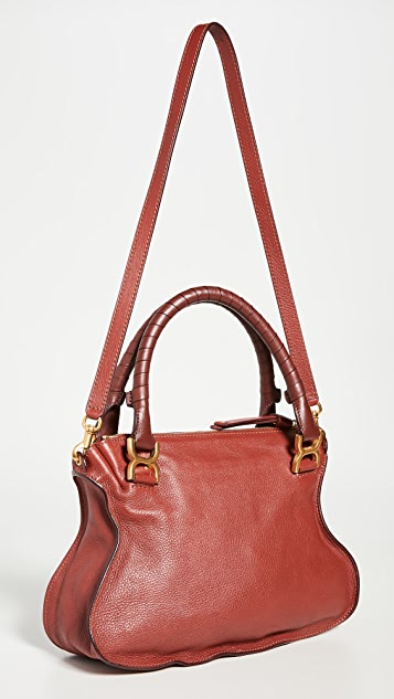 What Goes Around Comes Around Chloe Large Marcie Bag Red Leather