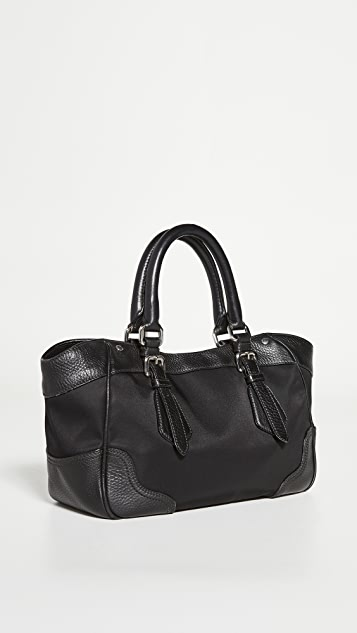 What Goes Around Comes Around Prada Black Nylon Handbag
