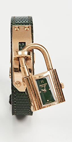 What Goes Around Comes Around - Hermes Green Gold Kelly Watch