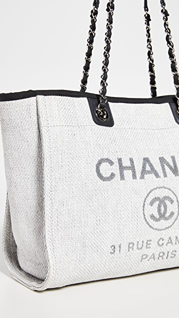 What Goes Around Comes Around Chanel 灰色草编 Deville 包