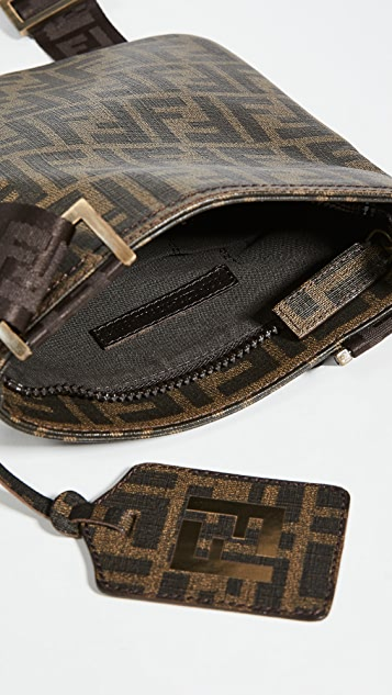 What Goes Around Comes Around Fendi Brown Coated Canvas Messenger Bag
