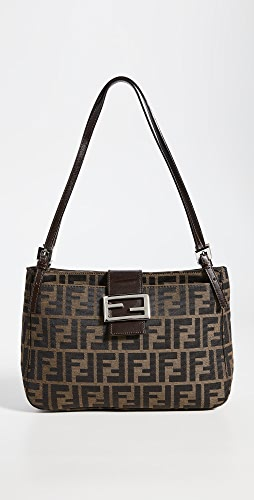 What Goes Around Comes Around - Fendi Brown Zucca Shoulder Bag