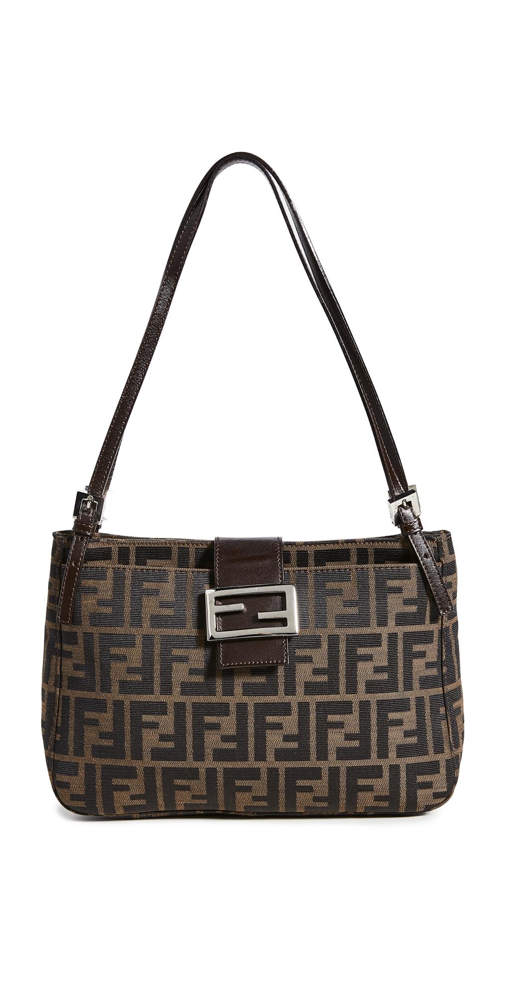 What Goes Around Comes Around Fendi Brown Zucca Shoulder Bag
