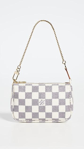 What Goes Around Comes Around Lois Vuitton Damier Azur Pochette Mini Bag