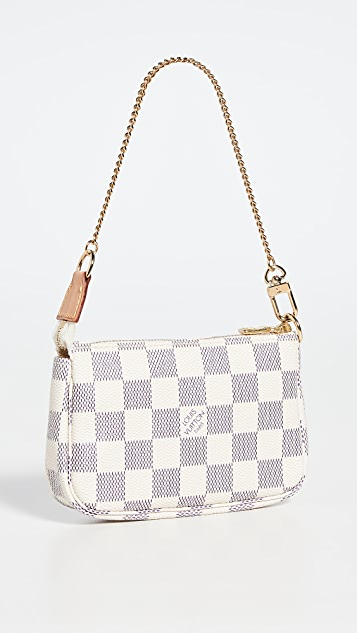 What Goes Around Comes Around Lois Vuitton Damier Azur Pochette 迷你包