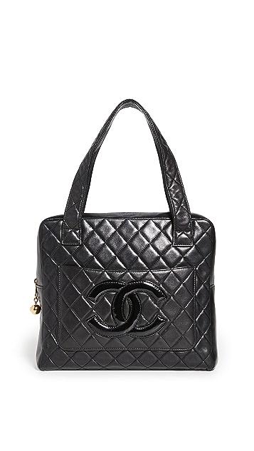 What Goes Around Comes Around Chanel Black Lambskin Handbag