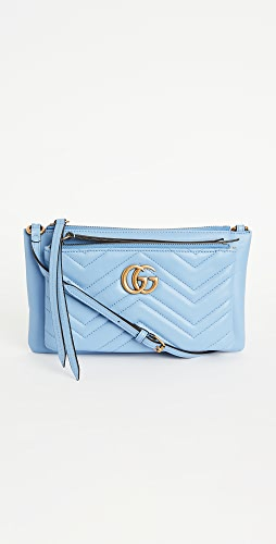 What Goes Around Comes Around - Gucci Blue Leather GG Marmont Shoulder Bag