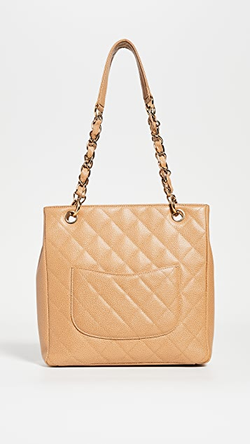 What Goes Around Comes Around Chanel Beige Caviar Bag