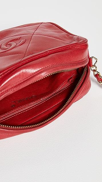 What Goes Around Comes Around Chanel Lamb Diamond CC Bag