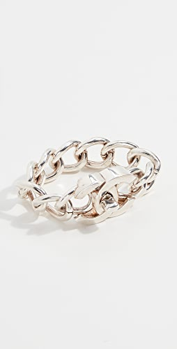 What Goes Around Comes Around - Chanel Silver Turn Lock Bracelet Large