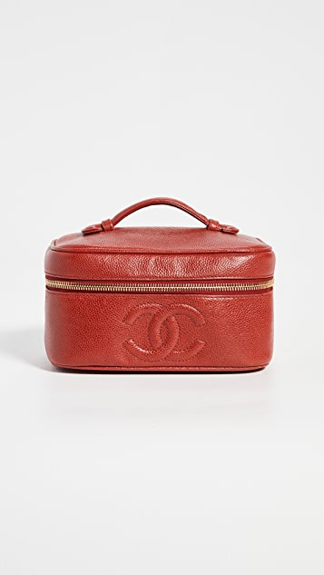 What Goes Around Comes Around Chanel Red Caviar Wide Vanity