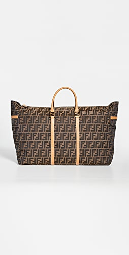 What Goes Around Comes Around - Fendi Brown Zucca Boston Large Bag