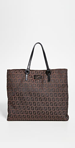 What Goes Around Comes Around - Fendi Brown Zucchino Handbag