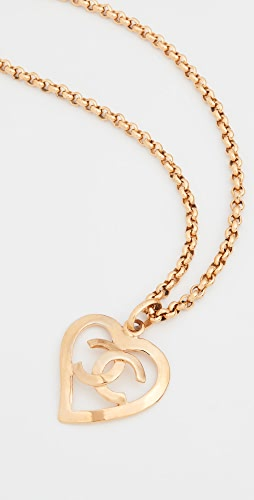 What Goes Around Comes Around - Chanel Gold CC Open Heart Necklace