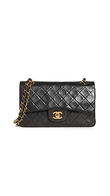 What Goes Around Comes Around Chanel Black Lambskin Bag