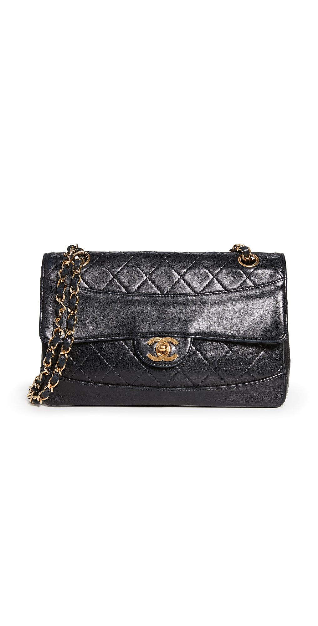 What Goes Around Comes Around Chanel Black Border Flap Pouch Bag