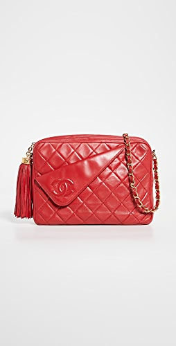 What Goes Around Comes Around - Chanel Red Lambskin Diagonal Camera Bag