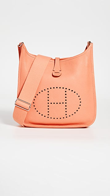 What Goes Around Comes Around Hermes Orange Clemence Evelyn 包