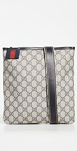 What Goes Around Comes Around - Gucci Navy Coated Canvas Bag