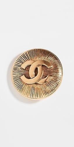 What Goes Around Comes Around - Chanel Gold Sunburst Pin