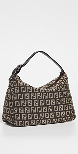 What Goes Around Comes Around - Fendi Brown Zucchino Mini Handbag