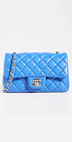 What Goes Around Comes Around - Chanel Blue Lamb Half Flap Bag